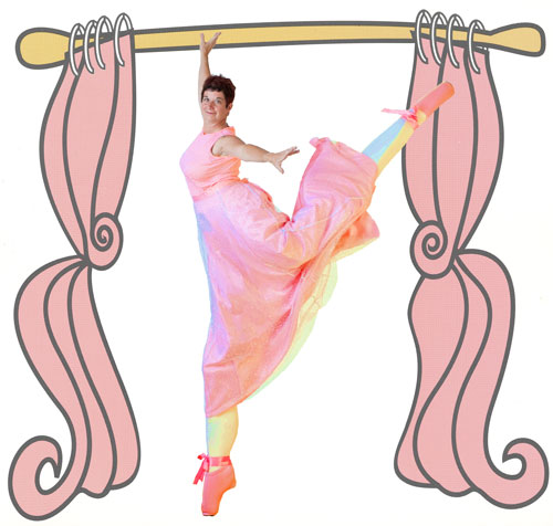 Kristi Heath as Madame Buskerfly performing her stilt ballet.